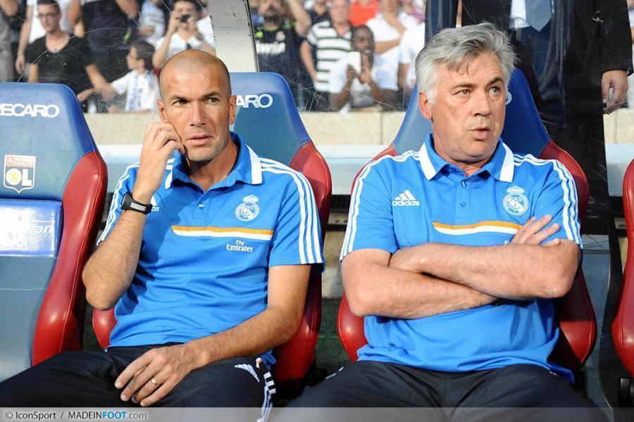 Zinédine Zidane pourrait quitter Carlo Ancelotti et le Real Madrid cet été...