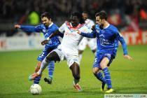 Fahid BEN KHALFALLAH / Bafetimbi GOMIS - 05.02.2014 - Lyon / Troyes - 1/2Finale Coupe de la Ligue