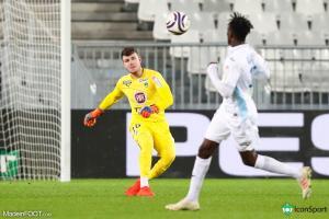Gaëtan Poussin, le jeune gardien de but des Girondins de Bordeaux.