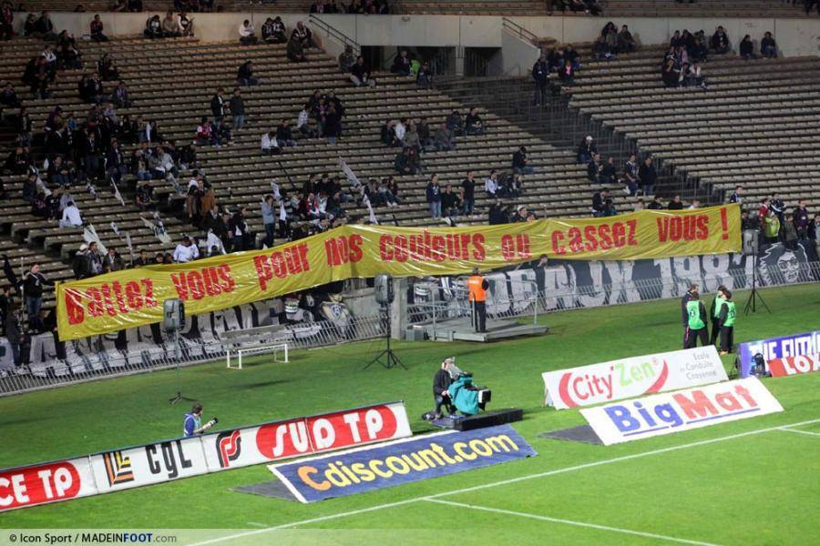 Les supporters bordelais mécontent