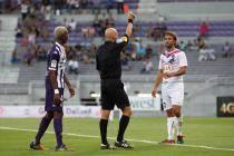 Carton rouge pour Marc Planus - 17.08.2013 - Toulouse / Bordeaux - 2 eme journee de Ligue 1 -