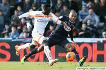 Jussie / Benjamin Angoua / action penalty  - 15.12.2013 - Bordeaux  / Valenciennes - 18eme journee de Ligue 1