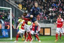 Zlatan IBRAHIMOVIC / Christopher GLOMBARD - 02.03.2013 - Reims / PSG  - 27eme journee de Ligue 1