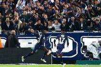 Joie Cedric Yambere - 08.11.2015 - Bordeaux / Monaco - 13eme journee de Ligue 1