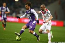 Martin Braithwaite / Diego Contento - 21.03.2015 - Toulouse / Bordeaux - 30eme journee de Ligue 1