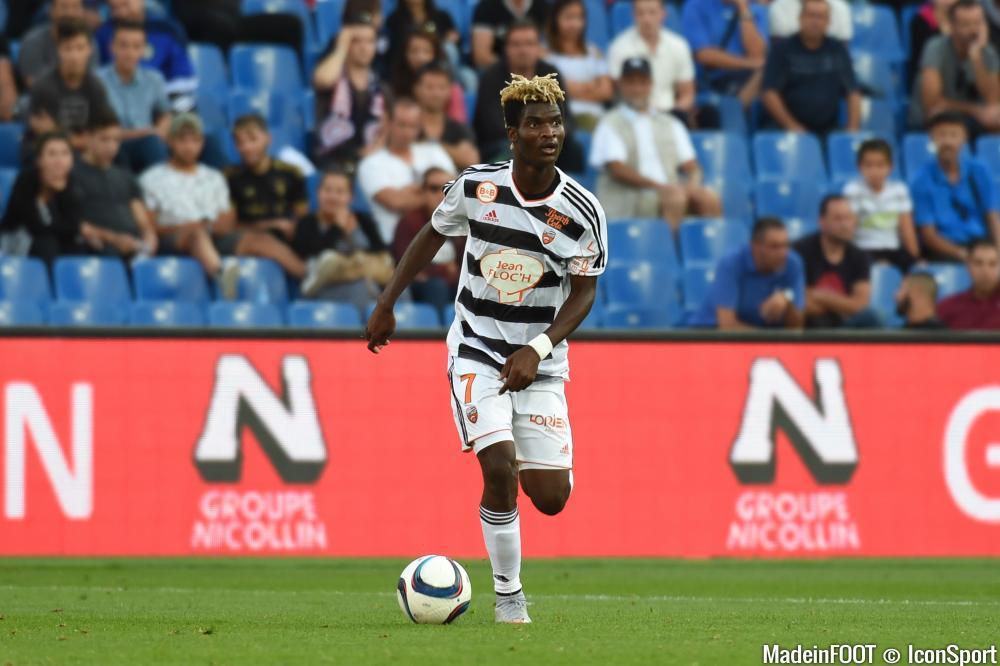 Ndong, joueur phare du FC Lorient veut faire un résulat face aux Girondins