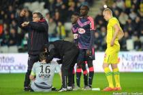 blessure de Cedric Carrasso - 23.01.2016 - Nantes / Bordeaux - 22eme journee de Ligue 1