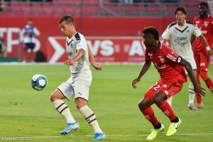 Nicolas De Préville (Girondins) est forfait pour la réception du Stade Brestois 29.