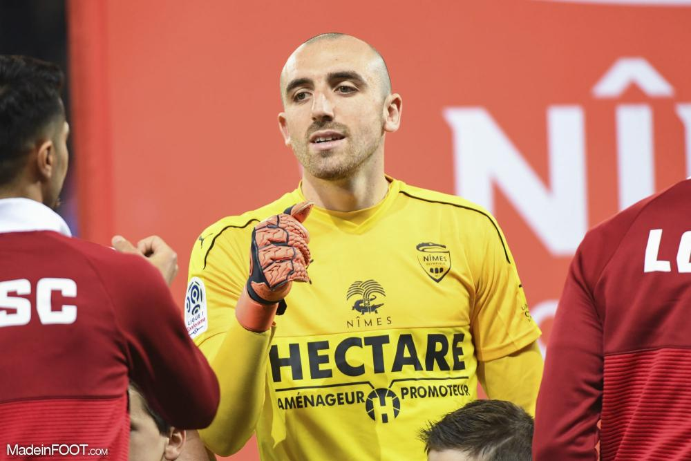 Paul Bernardoni évoluait sous les couleurs de Nîmes ces deux dernières saisons.
