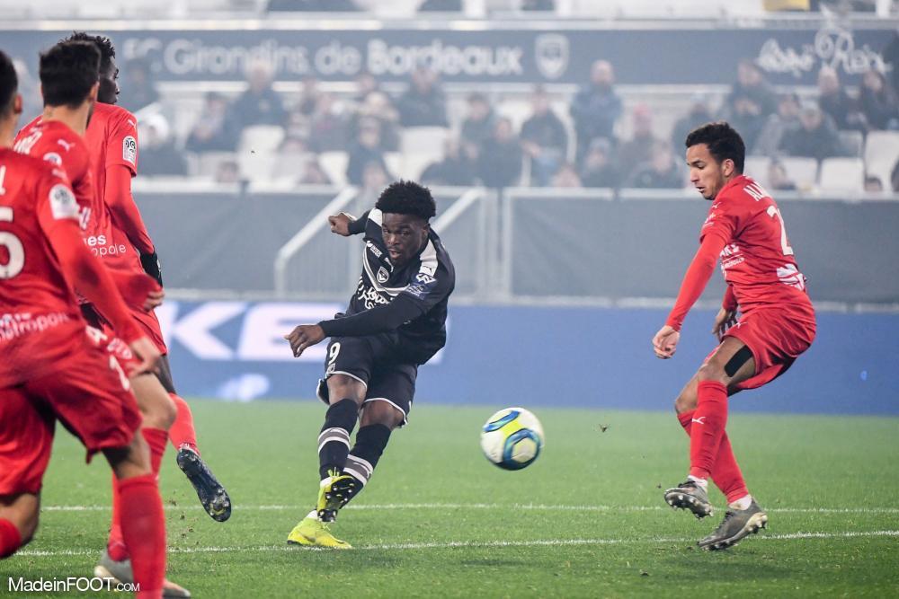 Josh Maja, l'attaquant des Girondins de Bordeaux.