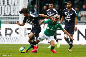 L'AS Saint-Etienne et les Girondins de Bordeaux se sont affrontés, hier après-midi au Stade Geoffroy-Guichard.