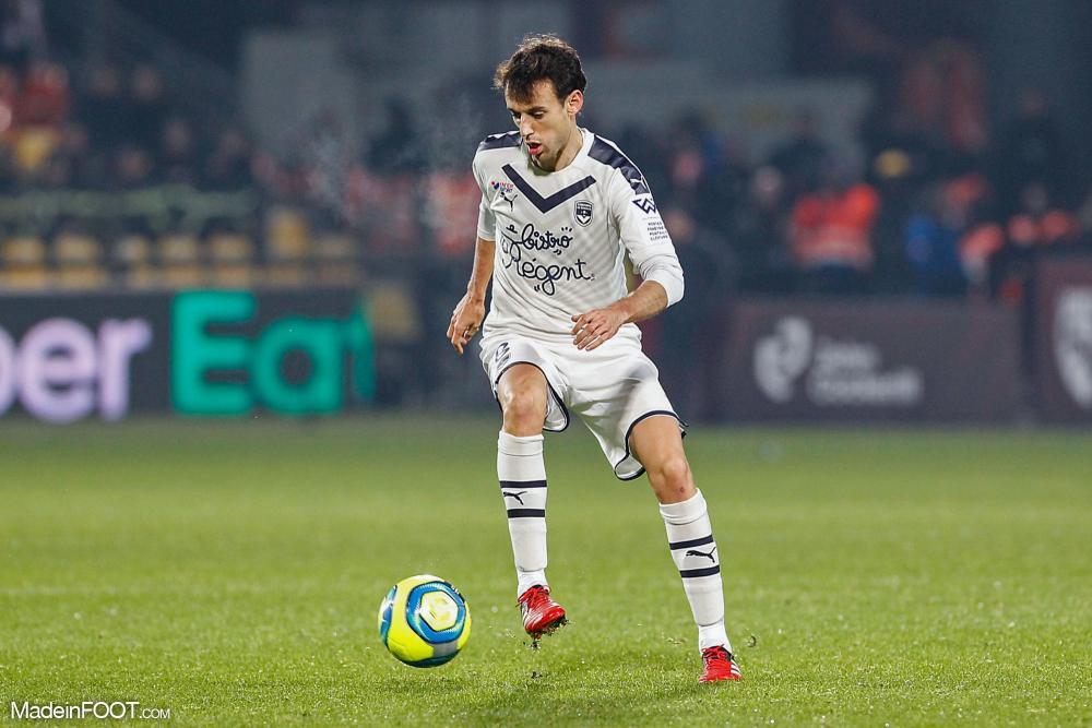 Ruben Pardo, le nouveau milieu de terrain des Girondins de Bordeaux.