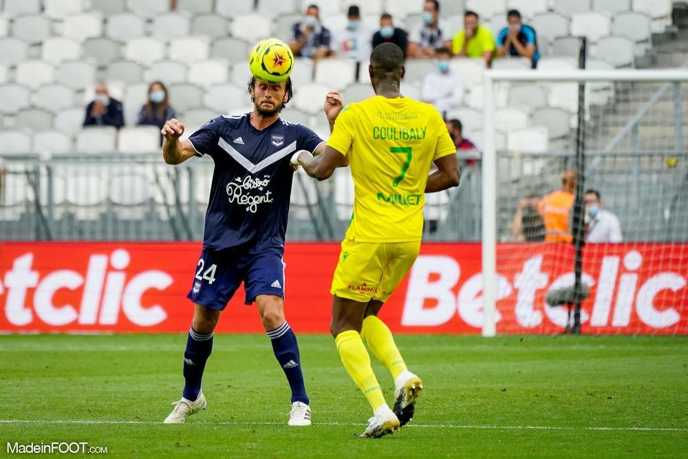 Paul Baysse, le défenseur central du FC Girondins de Bordeaux.