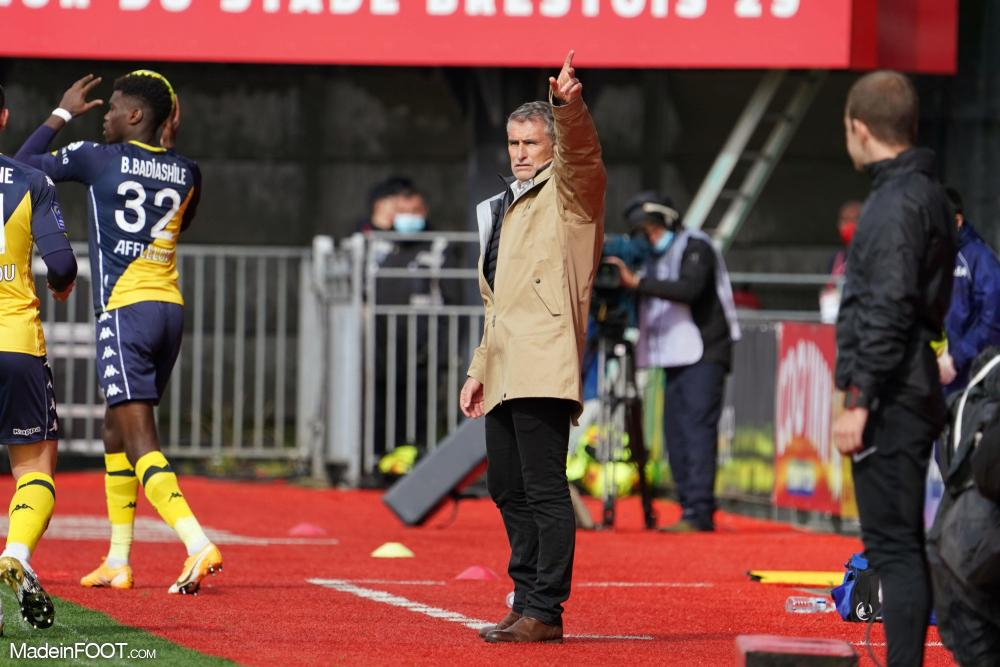 Olivier Dall'Oglio, l'entraîneur du Stade Brestois 29.