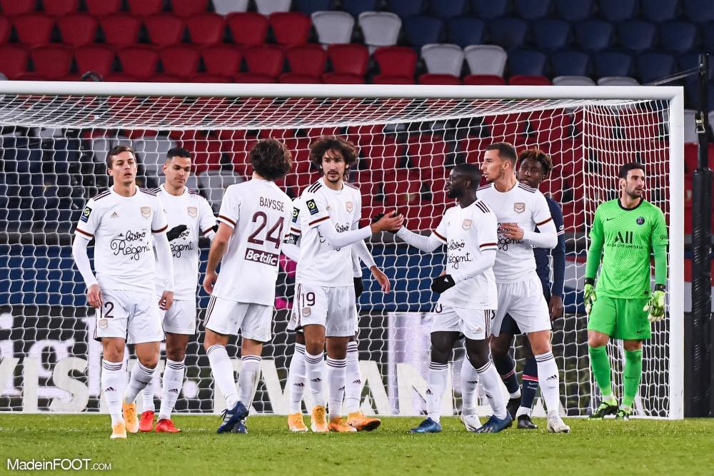 Les joueurs bordelais célébrant un but