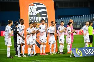 Le groupe de Lorient contre les Girondins