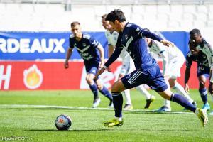 Hwang Ui-jo, l'attaquant des Girondins de Bordeaux.
