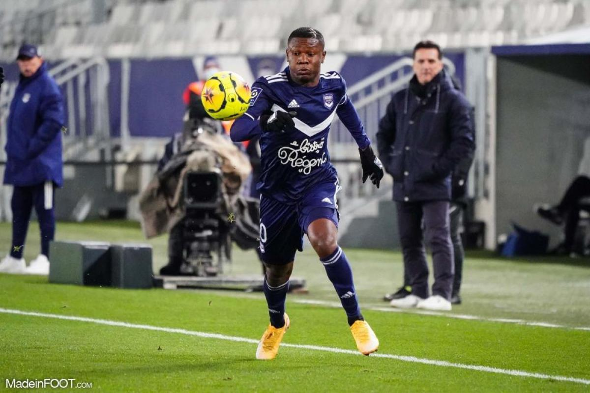 Kalu avec le maillot de Bordeaux