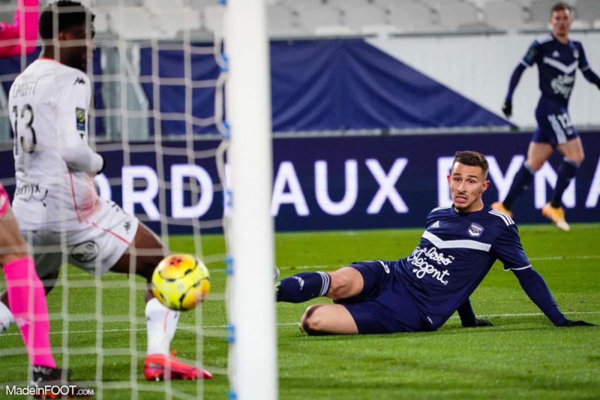 Rémi Oudin, l'attaquant des Girondins de Bordeaux.