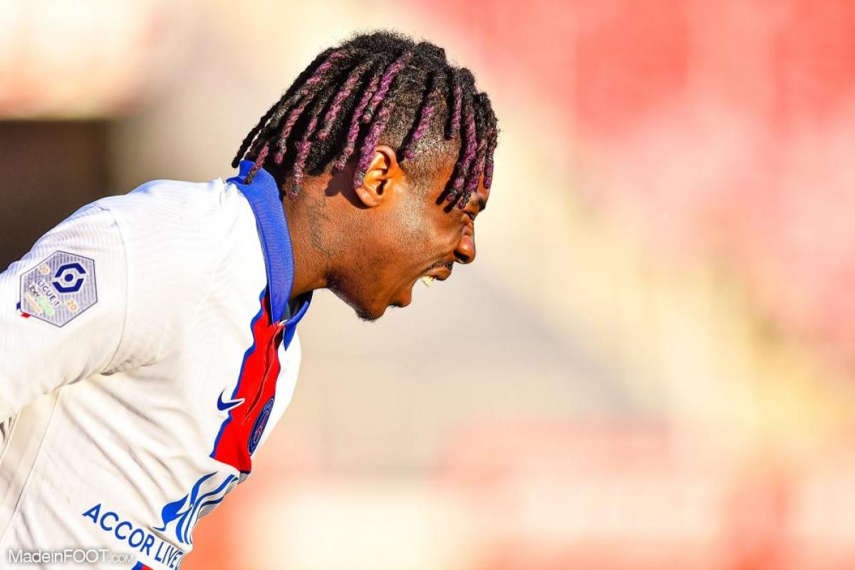 Moise Kean, attaquant du PSG